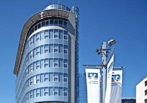 Am Börsenplatz 3 in Stuttgart hat Baden-Württembergs größte Genossenschaftsbank ihren Sitz. Im Jubiläumsjahr hat das Institut  mehrere Rekordmarken geknackt. Foto: Volksbank