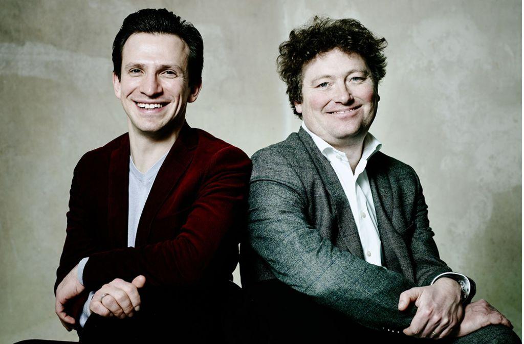Designiertes Leitungsteam der Oper Stuttgart: Viktor Schoner (rechts) und sein Generalmusikdirektor Cornelius Meister Foto: dpa