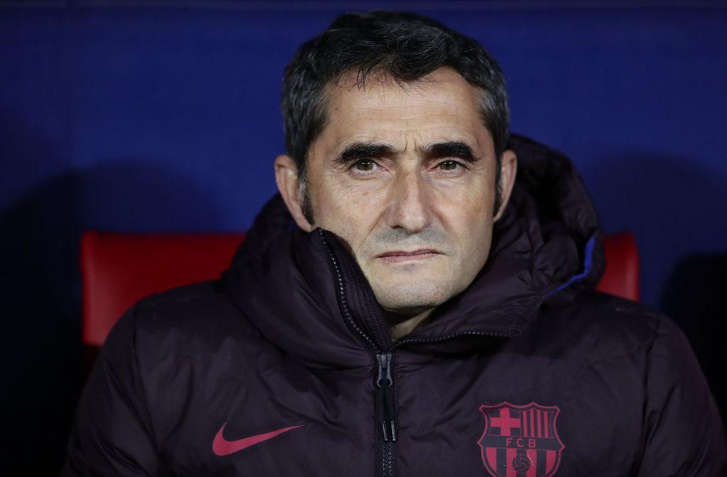 Ernesto Valverde ist nicht mehr länger Trainer beim FC Barcelona. Foto: dpa/Manu Fernandez