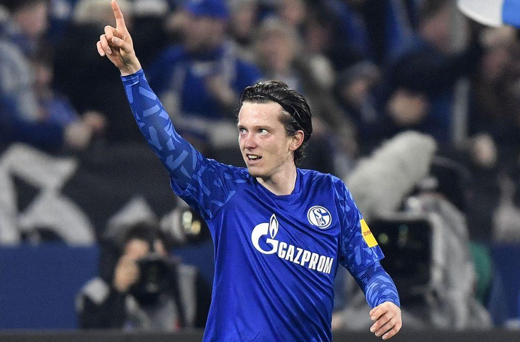 Michael Gregoritsch zeigte in seinem ersten Spiel für Schalke eine starke Leistung. Foto: AP/Martin Meissner
