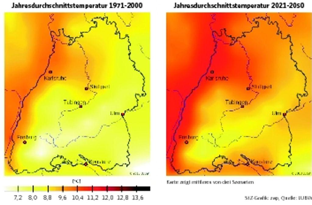 Die Durchschnittstemperatur in Baden-Württemberg wird bis zum Jahr 2050 um mehr als ein Grad steigen. Foto: zap