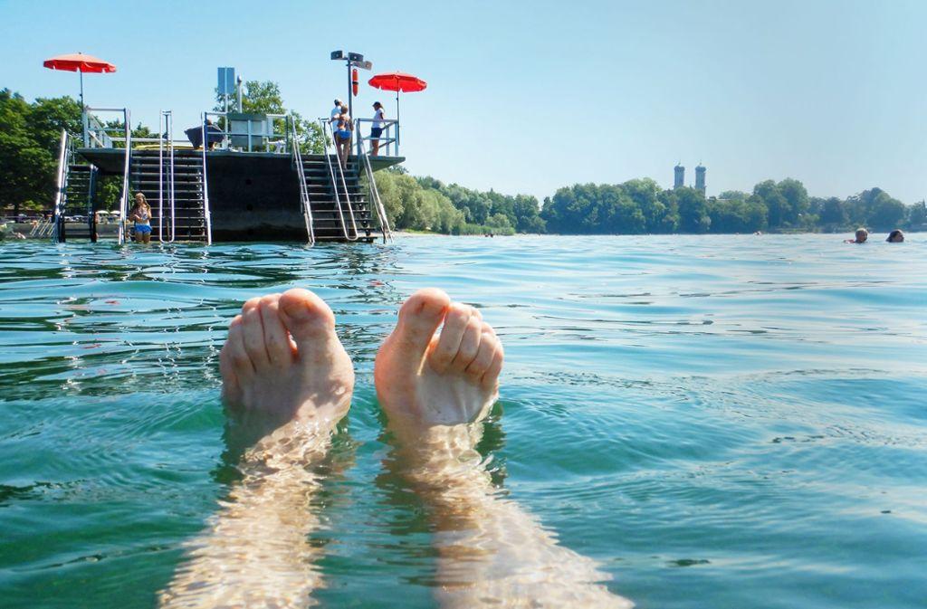 Der Wasserstand des Bodensees ist so niedrig wie seit 2006 nicht mehr – hier eine Aufnahme aus Friedrichshafen mit der Schlosskirche im Hintergrund. Foto: dpa