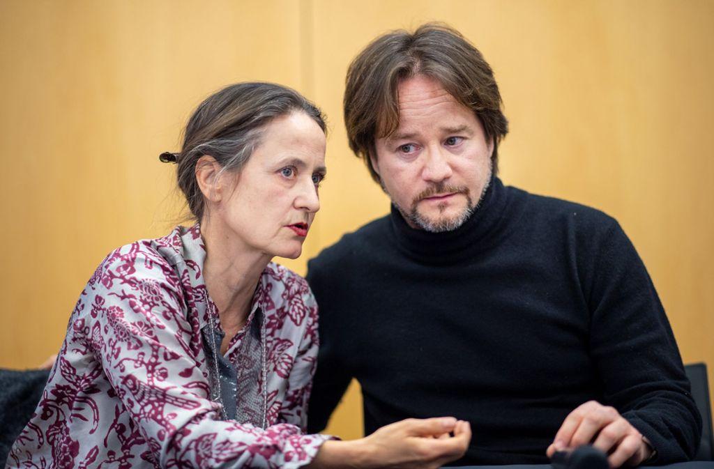 Sasha Waltz und Johannes Öhman bei der Programmpressekonferenz im März 2019; jetzt beenden beide vorzeitig ihre Intendanz am Berliner Staatsballett. Foto: dpa/Monika Skolimowska