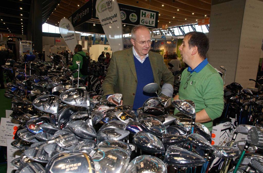 Golfer unter sich auf der CMT. Foto: Andreas Rosar Fotoagentur-Stuttgart