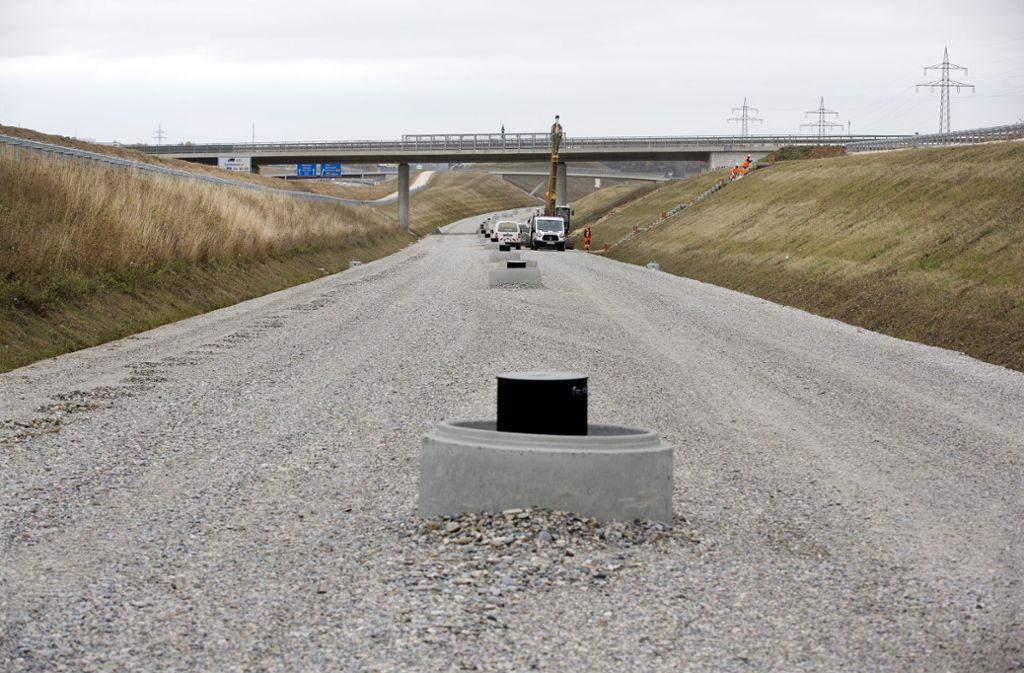 Die Gleise können kommen an der Neubaustrecke nach Ulm. Foto: Horst Rudel