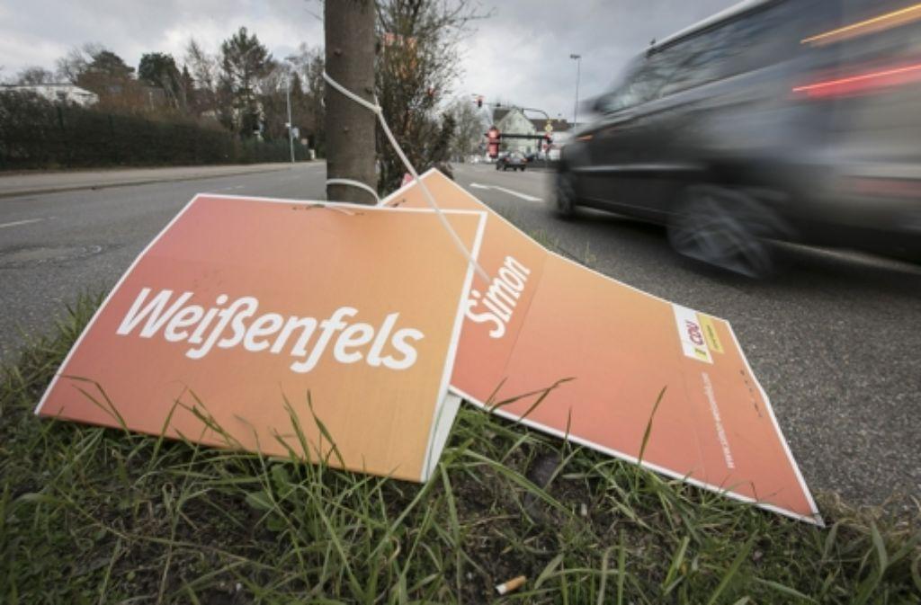 Was am Abend zur Gewissheit wurde, hat sich  am Nachmittag in Göppingen schon angedeutet: Weißenfels am Boden. Foto: Steinert