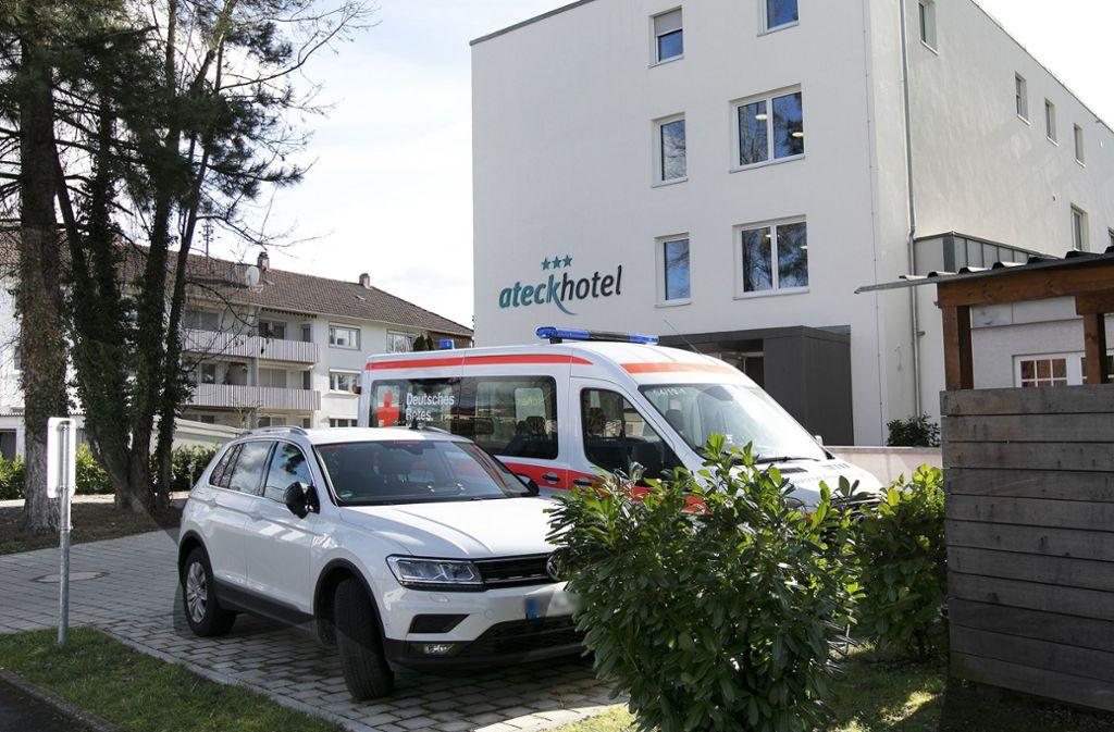In diesem Hotel müssen die Heimkehrer nun 14 Tage ausharren. Foto: Pressefoto H. Rudel