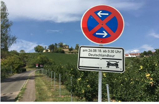 Radfahrer dürfen   sich am  Weinberg abarbeiten