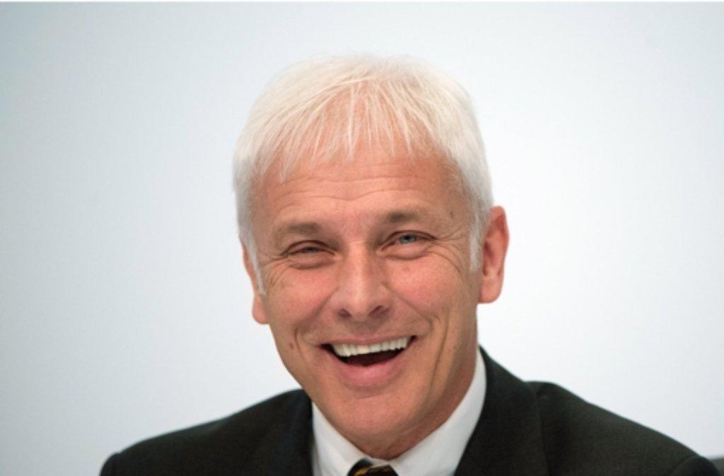 Porsche-Chef Matthias Müller gilt als heißer Kandidat für die Nachfolge von VW-Konzernlenker Martin Winterkorn. Foto: dpa