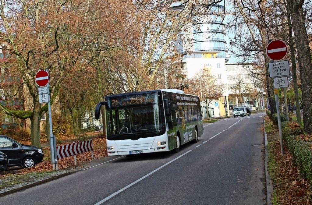 Der Bezirksbeirat will, dass die Albstraße in beide Richtungen geöffnet wird. Foto: Tilman Baur