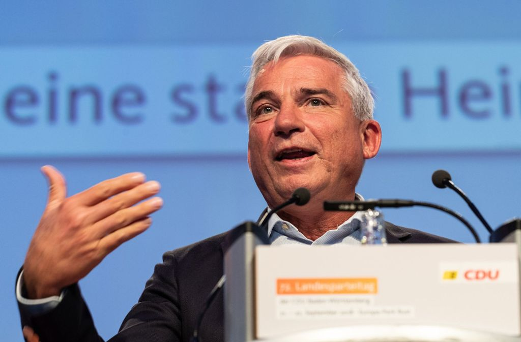 CDU-Landeschef Strobl fordert eine stärkere Auseinandersetzung mit der AfD Foto: dpa