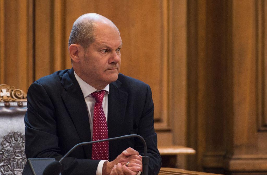 Unter Rechtfertigungszwang: Hamburgs Bürgermeister Olaf Scholz (SPD) Foto: dpa
