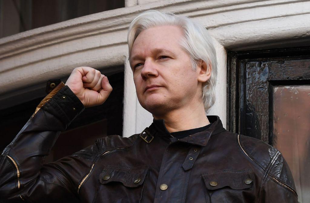 Seit 2012 lebt Assange in Ecuadors Botschaft in London. Foto: AFP