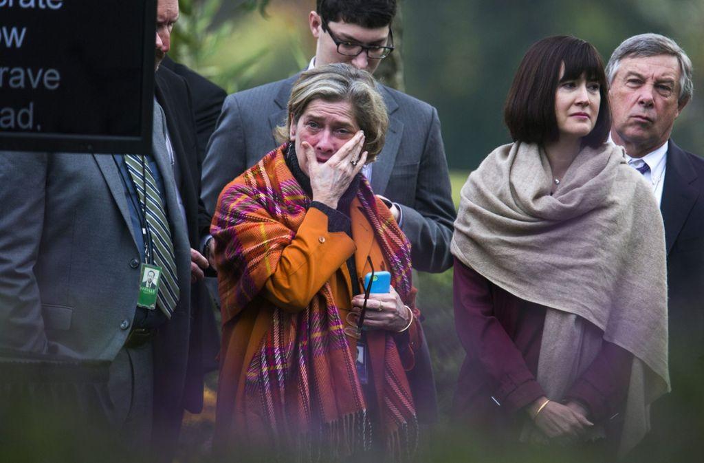 Trauer bei den Demokraten.  Foto: dpa