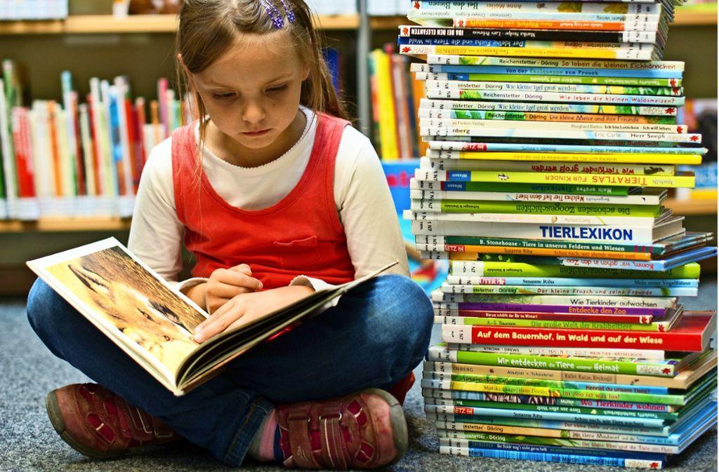 Mit Spiel- und Leseecken für Kinder und WLAN für die Erwachsenen bleiben Bibliotheken attraktiv. Foto: dpa/Patrick Pleul, Sandra Hintermayr