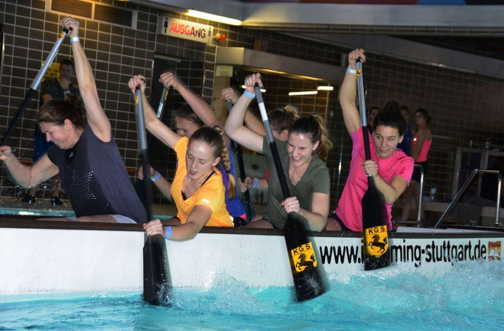 Beim Drachenbootcup sind Power und Muskeln gefragt. Foto: Andreas Rosar Fotoagentur-Stuttg