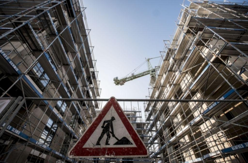 An der Seestraße entstehen Sozial- und Eigentumswohnungen. Foto: Lichtgut/Leif Piechowski
