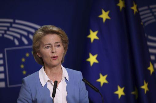 Ursula von der Leyen wirbt im Europaparlament für sich