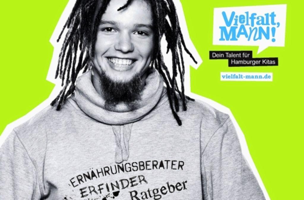 In der Hamburger Kampagne werben Erzieher mit einigem Erfolg für ihren Beruf. Die Ausbildungszahlen sind gestiegen. Foto: Paritätischer Wohlfahrtsverband Hamburg
