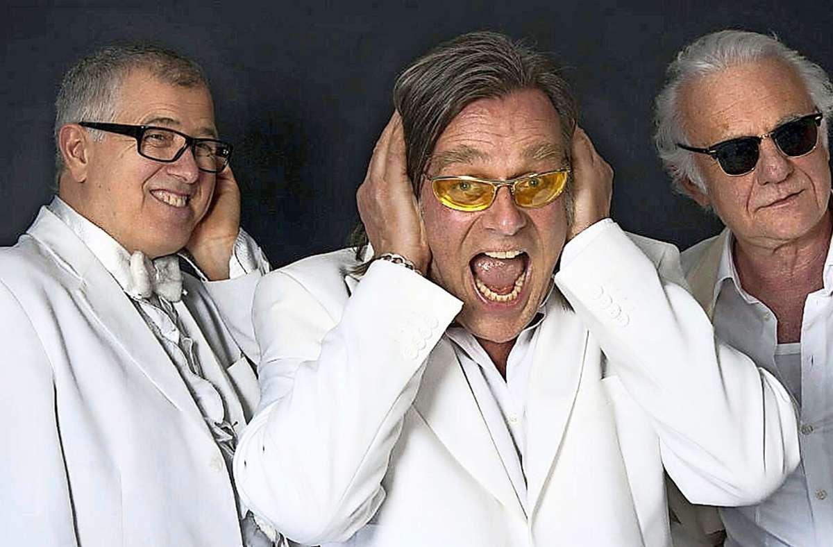 Drei Altmeister der Comedy:  Otto Kuhnle, Michael Gaedt und Roland Baisch (v. l.) kommen am 26. Juni nach Böblingen Foto: