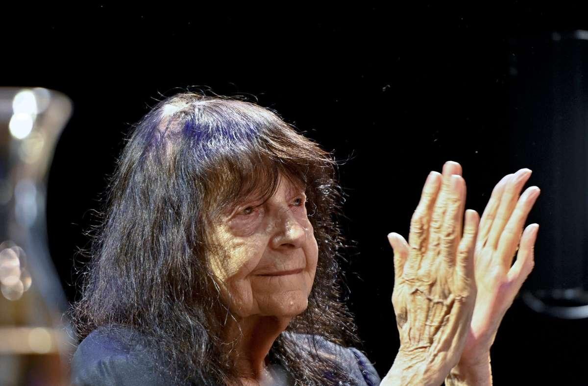 Friederike Mayröcker ist tot. (Archivbild) Foto: dpa/Herbert Neubauer