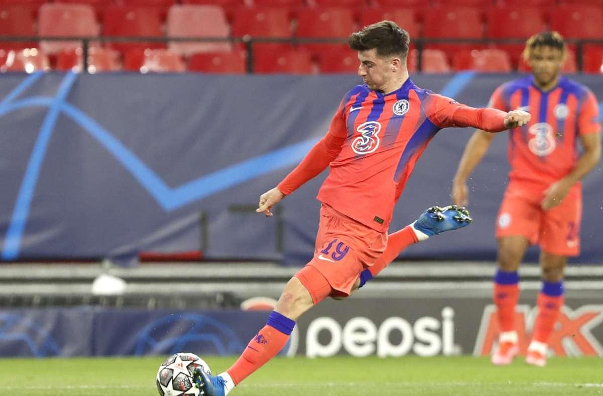 Mason Mount erzielte den Führungstreffer für Chelsea. Foto: dpa/Angel Fernandez