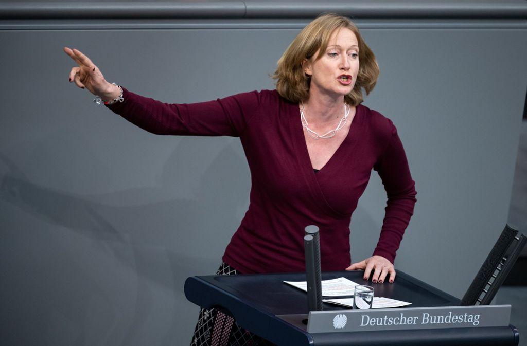 Kerstin Andreae sorgt mit ihrem Wechsel in die Wirtschaft für Kritik. Foto: Bernd von Jutrczenka/dpa