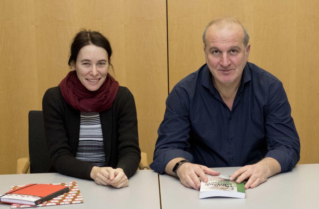 Ein eingespieltes Team ist  vom Vorsitz des Gesamtelternbeirats zurückgetreten: Kathrin Grix und Georg Lois. Foto: Lichtgut//Michael Latz