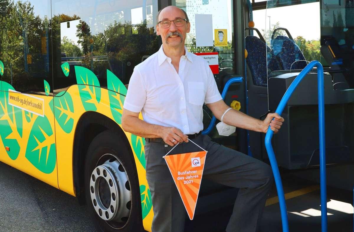 Claus Dieter Hoffmann, der Busfahrer des Jahres in Stuttgart. Foto: VVS