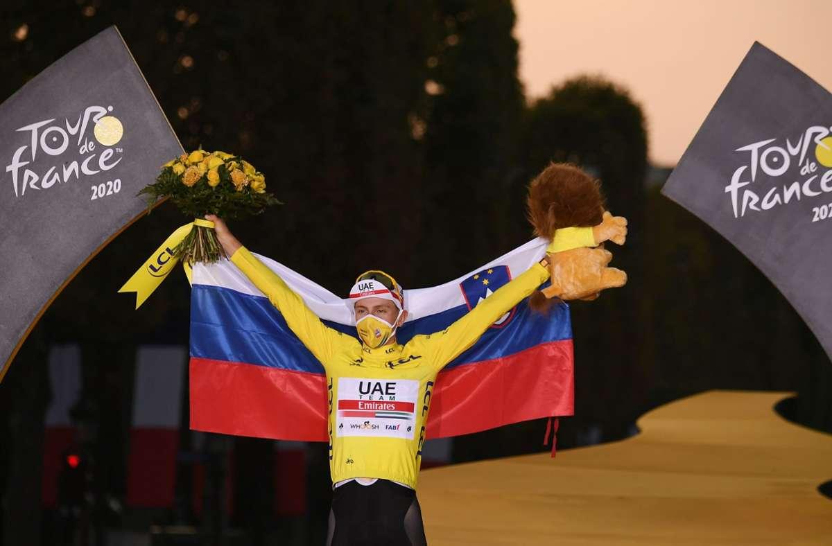 Tour-de-France-Sieger Tadej Pogacar Foto: AFP/Marco Bertorello