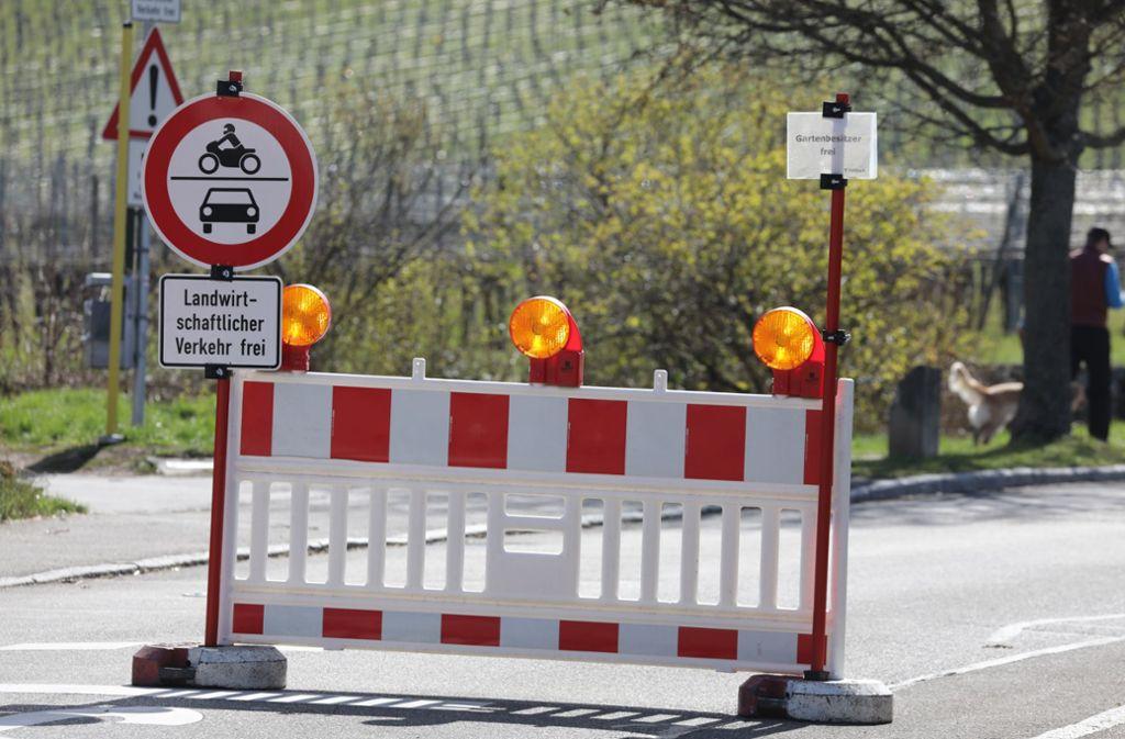 Kein Pardon: Die Zufahrt zum Kappelberg ist wegen  Corona gesperrt. Foto: Patricia Sigerist