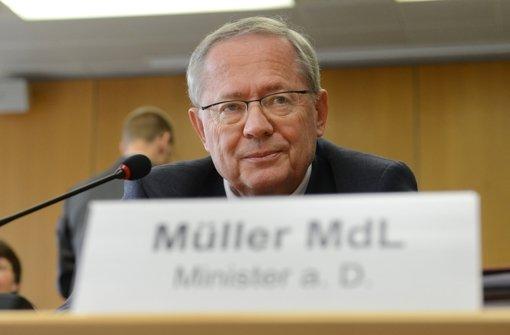 Ex-Verkehrsminister Müller kandidiert nicht mehr
