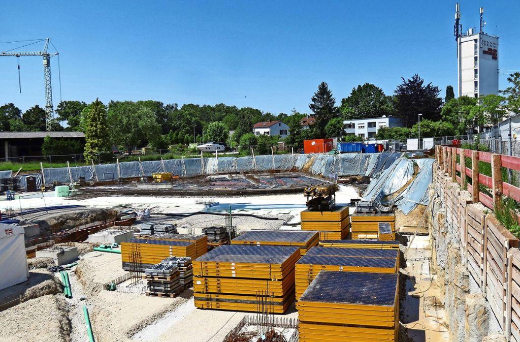 Bis Frühjahr 2021 soll der Neubau der Firma Epple bezugsfertig sein. Foto: Julia Bosch