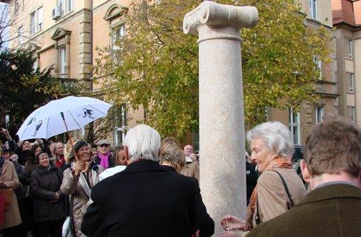 Säule am Eugensplatz feierlich enthüllt