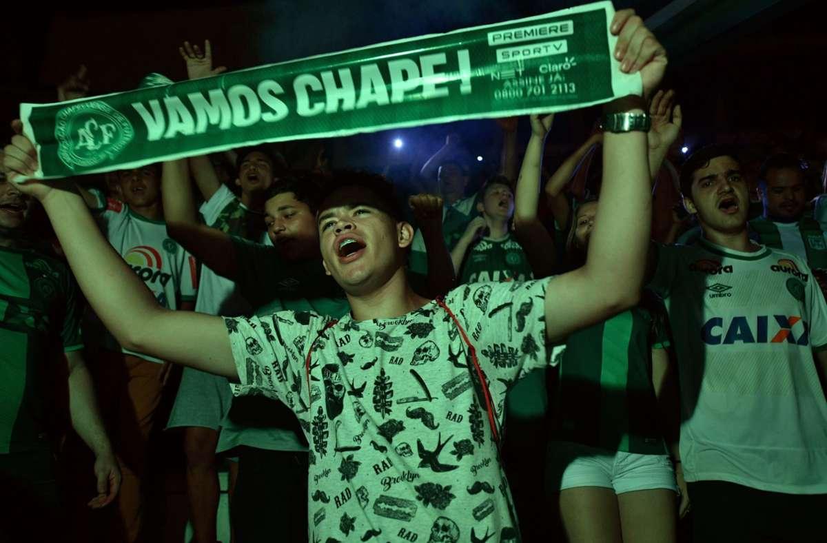 """""""Chape"""" hat die Rückkehr in die erste brasilianische Liga geschafft. Foto: AFP/NELSON ALMEIDA"""