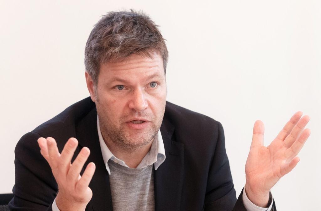 Robert Habeck, Umweltminister in Kiel, fordert einen Plan B für die atomaren Zwischenlager. Foto: dpa