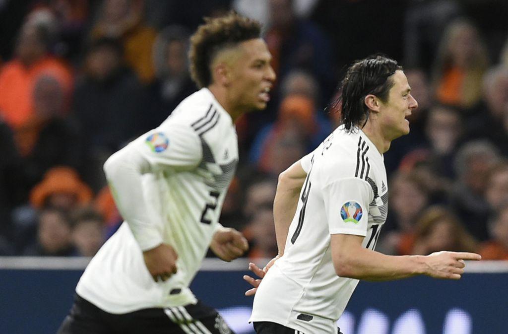Nico Schulz hat mit seinem Last-Minute-Siegtreffer (90.) am Sonntagabend in Amsterdam für die erhoffte Aufbruchstimmung bei der deutschen Nationalmannschaft gesorgt. Foto: AFP