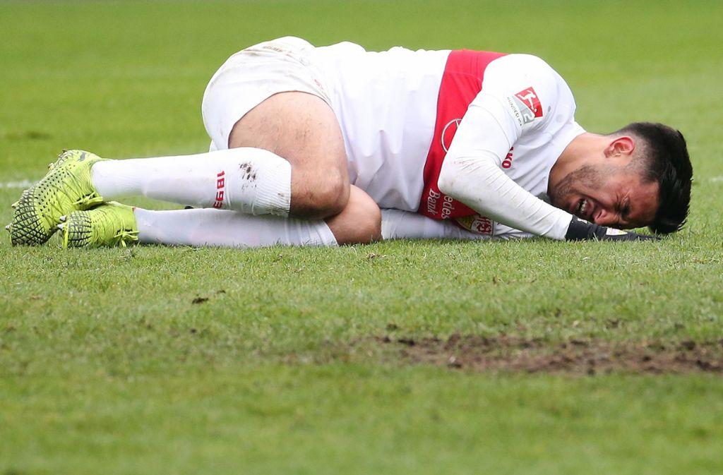 Nicolas Gonzalez und der VfB landen in Osnabrück auf dem harten Boden der Realität. Foto: Baumann