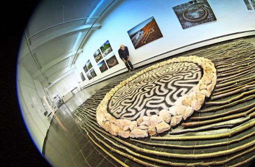 Eine Installation aus Eislinger Naturmaterialien