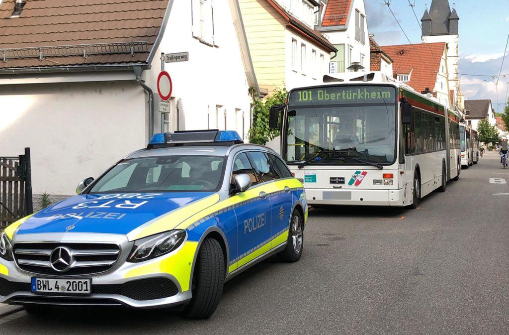 Der Unfall ereignete sich in der  Schenkenbergstraße. Foto: 7aktuell.de/Alexander Hald