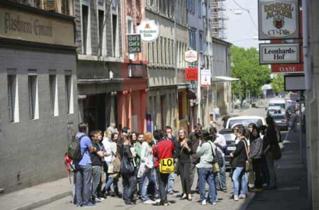 Nach Ansicht der Ratsmehrheit aus Grünen, SPD und SÖS/Linke soll das Leonhardsviertel am Rand der Innenstadt städtebaulich wieder aufgewertet werden. Foto: Zweygarth