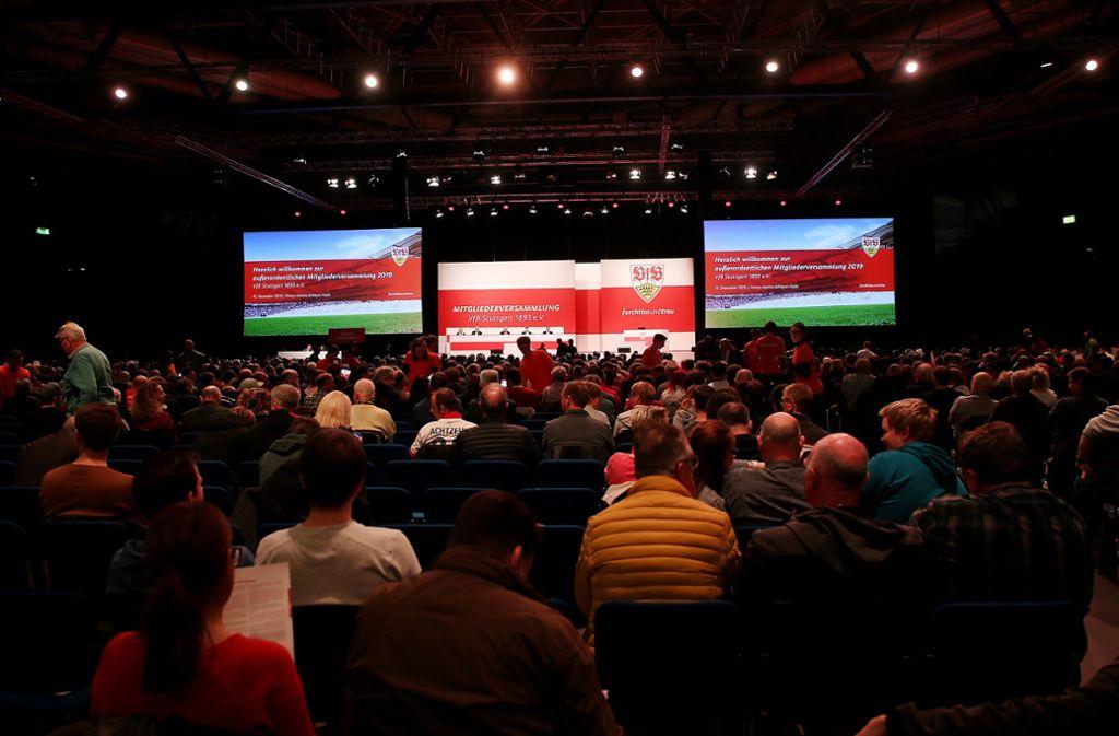 Die Mitgliederversammlung des VfB Stuttgart traf am Sonntag einige wichtige Entscheidungen. Foto: Baumann
