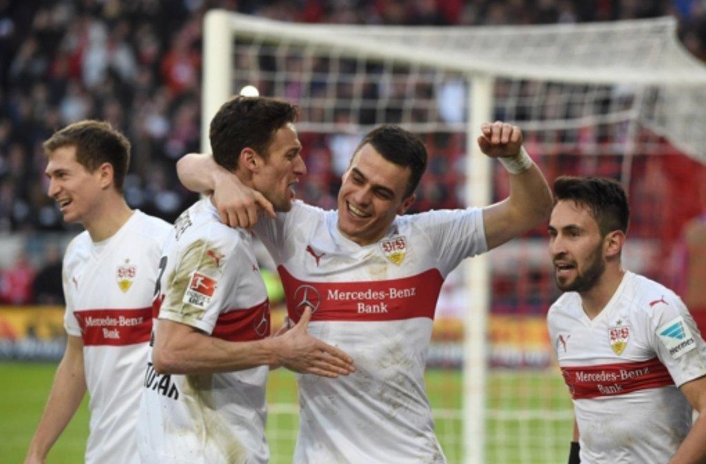 Gegen die Hertha feierte der VfB den fünften Sieg in Folge. Foto: dpa
