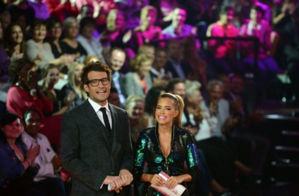 Sylvie Meis und Daniel Hartwich, die Moderatoren der RTL-Tanzshow Lets Dance. Foto: dpa