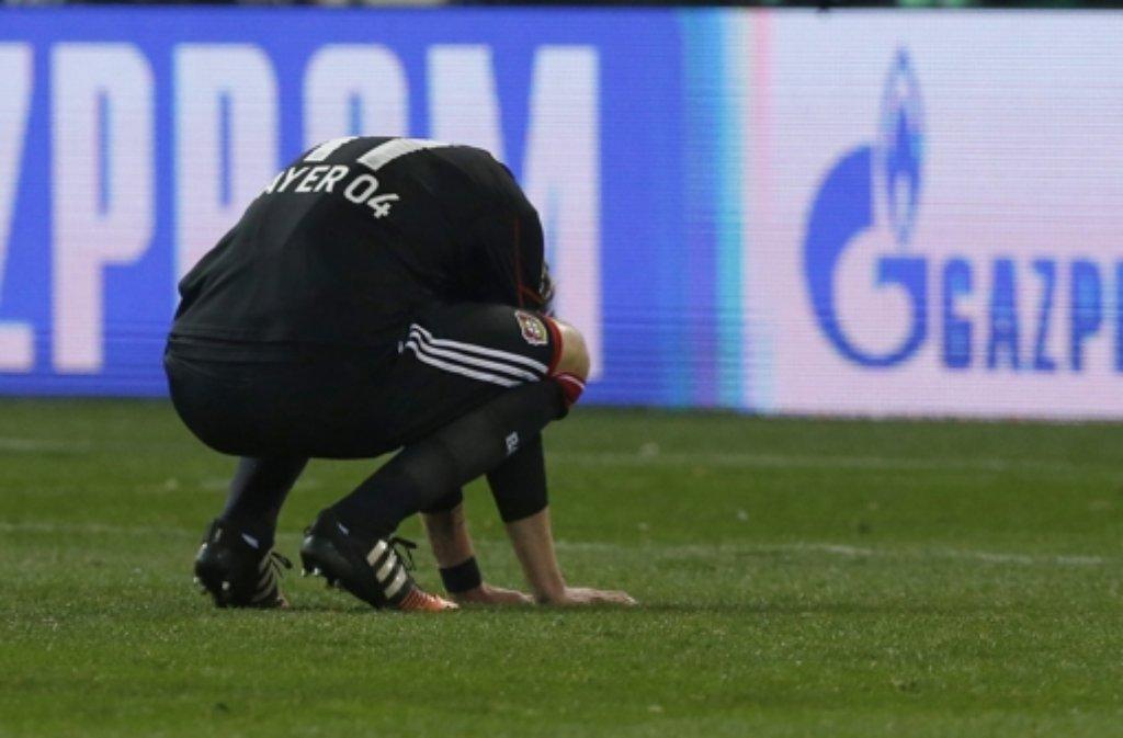 Bayer Leverkusen weint nach dem Champions-League-Aus. Foto: EFE