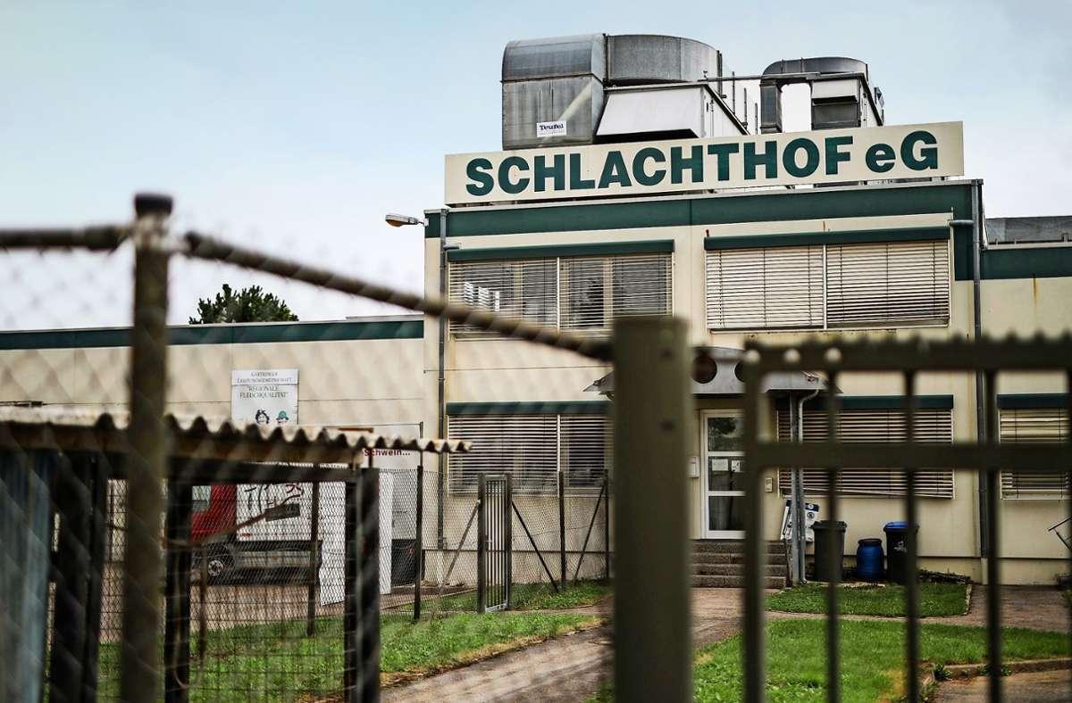 Bis auf Weiteres geschlossen: der Schlachthof Gärtringen. Foto: dpa/Christoph Schmidt