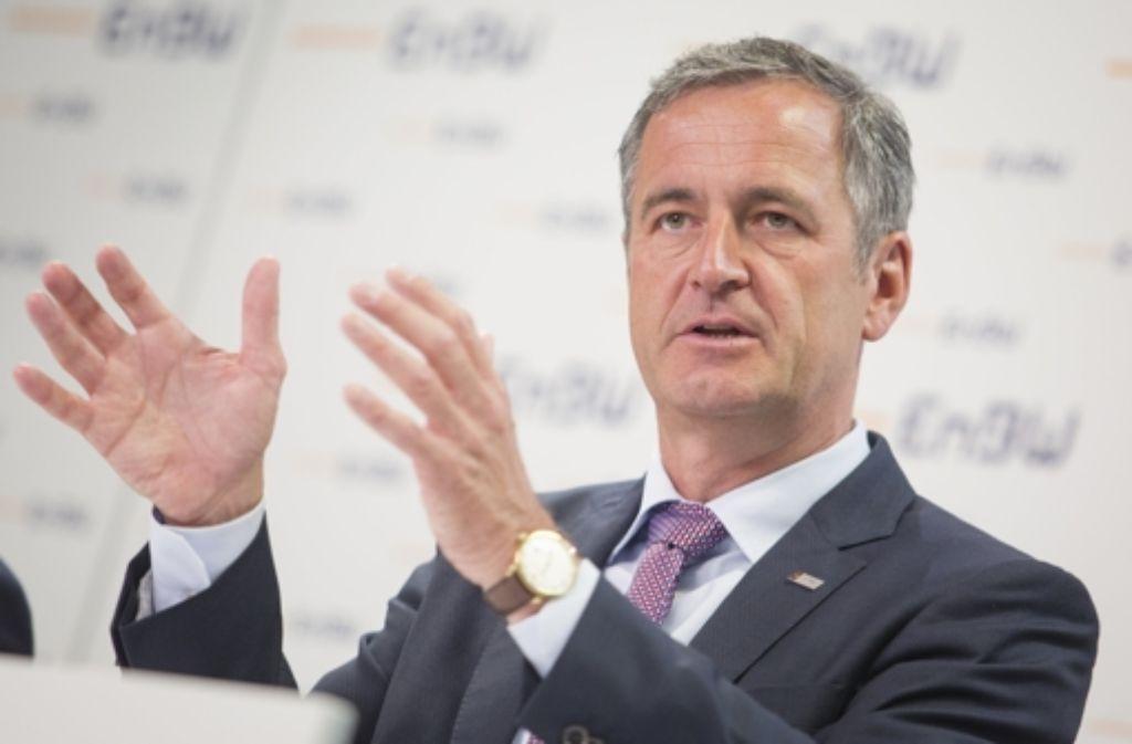 EnBW-Chef Frank Mastiaux will seinen Aktionären auch in dürren Zeiten eine Dividende zahlen. Foto: dpa
