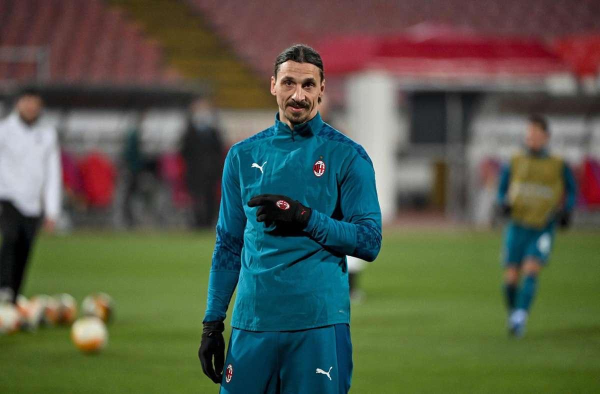 Zlatan Ibrahimovic wurde im Spiel bei Roter Stern Belgrad wüst beschimpft. Foto: AFP/ANDREJ ISAKOVIC