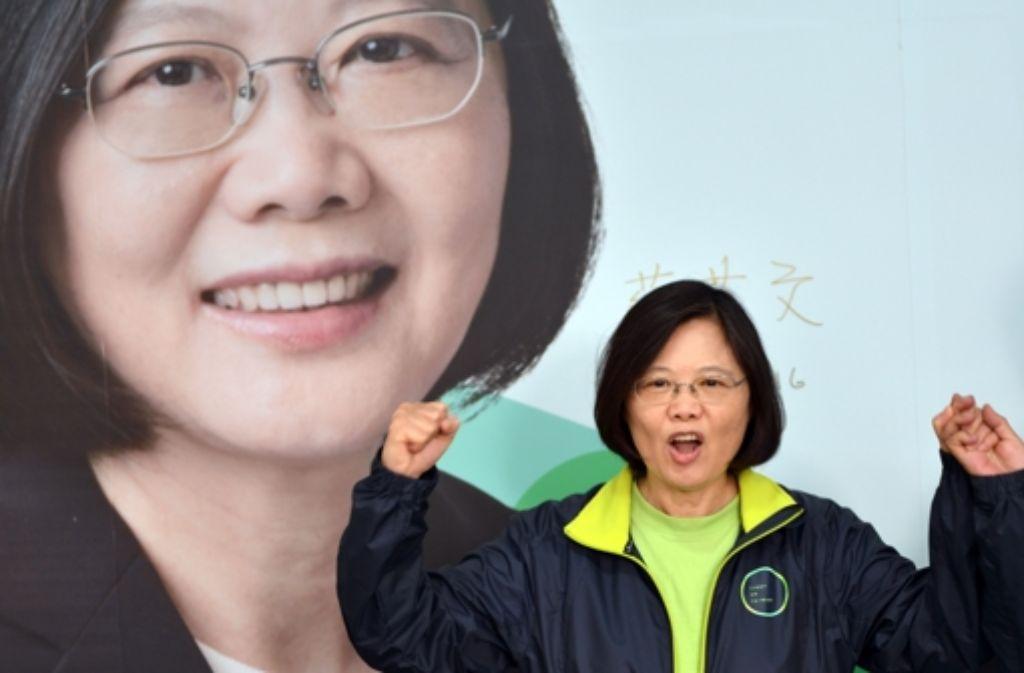 Tsai Ing-wen hat die Wahl in Taiwan gewonnen. Foto: AFP