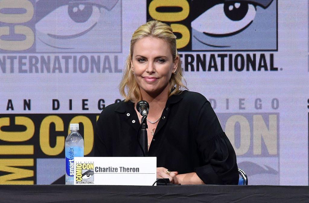 Die Schauspielerin Charlize Theron vergangene Woche auf der Messe Comic Con in San Diego Foto: AFP